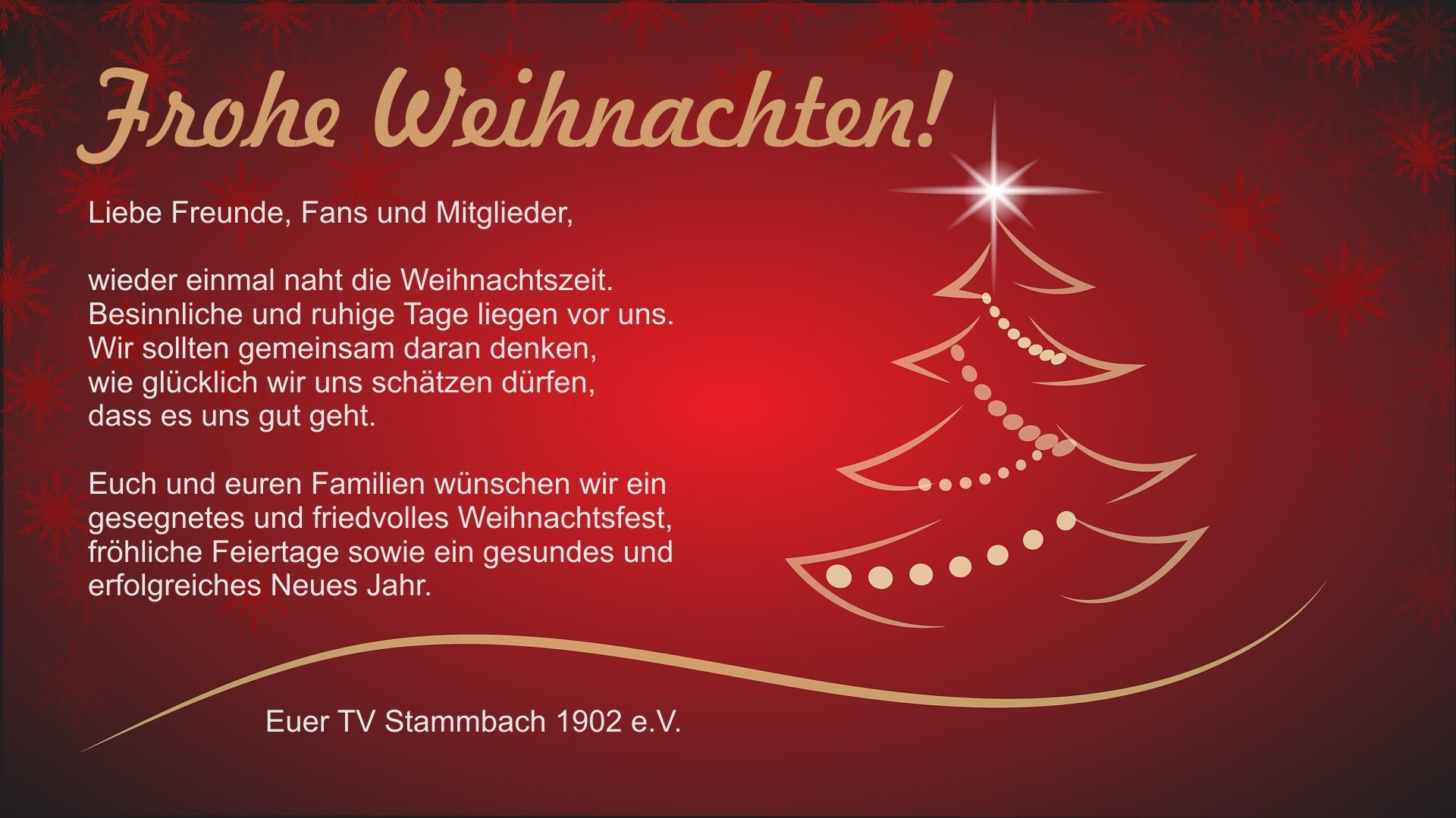 Frohe Weihnachten – Mountainbike im TV Stammbach
