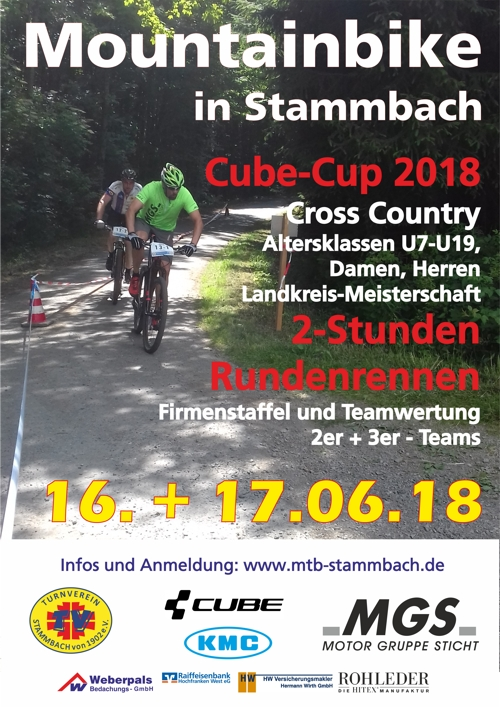 Mountainbike Wochenende in Stammbach 16. und 17. Juni 2018 MTB-Meisterschaft landkreis Hof